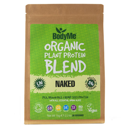 BodyMe Organic Vegan Protein Powder Blend - Naked Natural - 1kg - Best before date is 30th April 2018