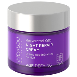 Andalou Resveratrol Q10 Night Repair Cream Age Defying - 50ml