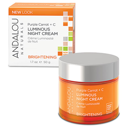 Andalou Purple Carrot + C Luminous Night Cream Brightening  - 50g