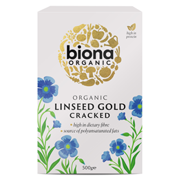 Biona Organic Linseed Gold - Cracked - 500g