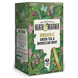 Heath & Heather Organic Green Tea & Moroccan Mint - 20 Bags
