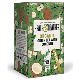 Heath & Heather Organic Green Tea with Coconut - 20 Bags