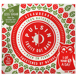 Pulsin Kids Strawberry Fruity Oat Bars - 25g x 6 Pack