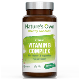 Natures Own Food State Vitamin B Complex Plus Vitamin C & Magnesium- 50 Tablets