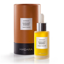 MADARA Superseed Radiant Energy Organic Facial Oil - 30ml - Best before date is 31st December 2018