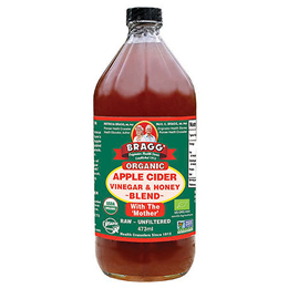 Bragg Organic Apple Cider Vinegar & Honey - With the Mother - 473ml