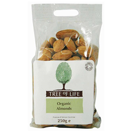 Tree of Life Organic Whole Almonds - 250g