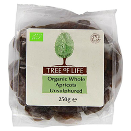 Tree of Life Organic Whole Apricots Unsulphered - 250g