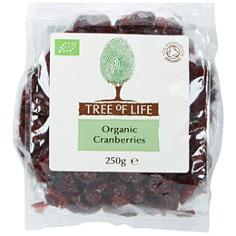 Tree of Life Organic Cranberries - 250g