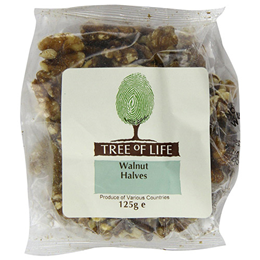 Tree of Life Organic Walnut Halves - 125g