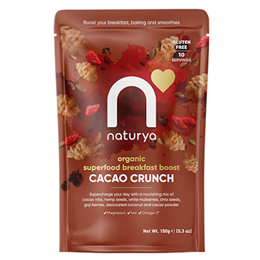 Naturya Breakfast Boost Cacao Crunch - 150g - Best before date is 31st December 2017
