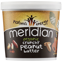 Meridian Organic Crunchy Peanut Butter - 1kg - Best before date is 30th April 2019