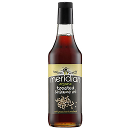 Meridian Organic Toasted Sesame Oil - 500ml - Best before date is 31st March 2018
