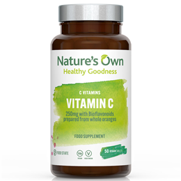 Natures Own Food State Vitamin C - with Bioflavonoids - 50 Tablets