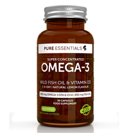 Igennus Pure Essentials Omega-3 Fish Oil & Vitamin D3 - 30 Capsules