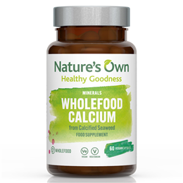 Natures Own Wholefood Calcium - Organic Seaweed - 60 x 200mg Vegicaps