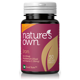 Natures Own Food State Iron - Molybdenum with Vitamin C - 50 Tablets