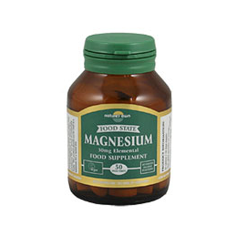 Natures Own Food State Magnesium - 50 x 40mg Tablets