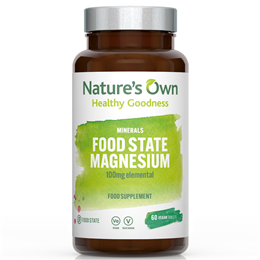 Natures Own Biofood Magnesium - 60 x 100mg Tablets