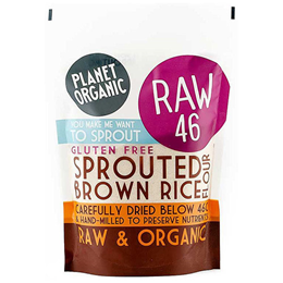 Planet Organic Sprouted Brown Rice Flour - 400g - Best before date is 15th December 2017