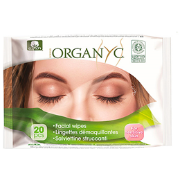 Organyc Face Wipes - 20 Wipes