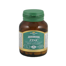 Natures Own Food State Zinc - With Copper - 30 Tablets