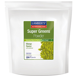 LAMBERTS Super Greens Powder - Mango Flavour - 200g