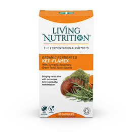 Living Nutrition Kef-flamex - 60 Capsules