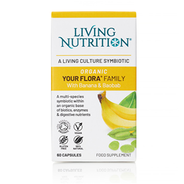 Living Nutrition Your Flora: Family - 60 Capsules - Best before date is 20th March 2020