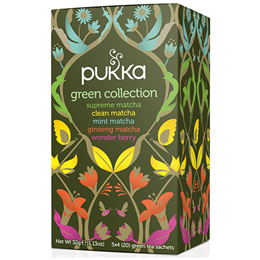 Pukka Teas Organic Green Collection - 20 Teabags x 4 Pack