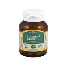Natures Own Siberian Ginseng - Eleutherococcus Senticosis - 30 Tablets