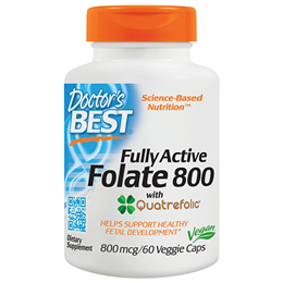 Doctors Best Fully Active Folate - Quatrefolic - 60 x 800mcg Vegicaps