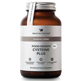 Wild Nutrition Food-Grown Cysteine Plus - 60 Capsules