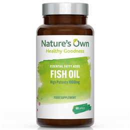 Natures Own Fish Oil - High Potency Omega 3 - 60 Capsules
