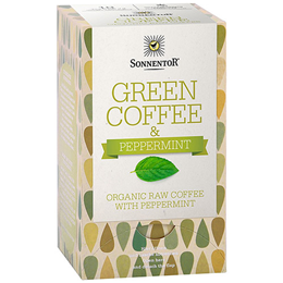 Sonnentor Organic Green Coffee with Peppermint - 18 Coffee Bags