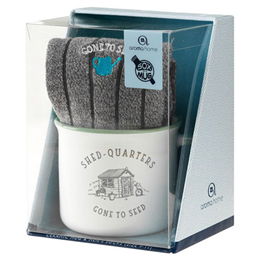 Aroma Home Ceramic Mug & Men`s Socks - Shed Quarters