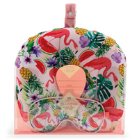 Aroma Home Flamingo Neck Pillow & Eye Mask