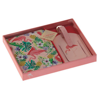 Aroma Home Flamingo Passport Holder & Luggage Tag