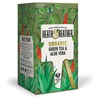 Heath & Heather Organic Green Tea & Aloe Vera - 20 Bags