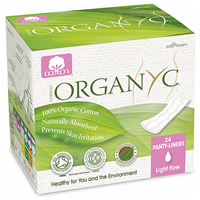 Organyc Panty Liners Folded - Light Flow - 24 Pack