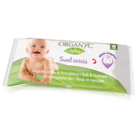 Organyc Organic Cotton Baby Wipes - 60 Wipes