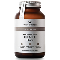 Wild Nutrition Food-Grown Cleanse Plus - 90 Capsules - Best before date is 31st March 2019