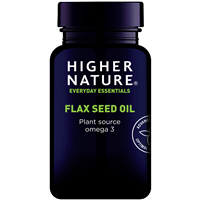 Higher Nature Flax Seed Oil - Plant Source Omega 3 - 180 Capsules
