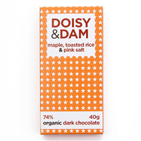 Doisy & Dam Maple Organic Dark Chocolate - 80g Bar