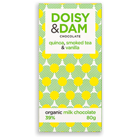 Doisy & Dam Quinoa Organic Milk Chocolate - 80g Bar