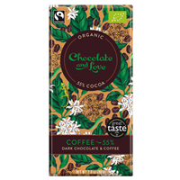 Chocolate and Love Coffee Organic Dark Chocolate - 80g Bar
