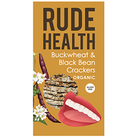 Rude Health Buckwheat & Black Bean Crackers - 120g