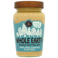 Whole Earth Peanut Butter with Mixed Seeds - 340g