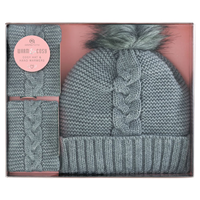 Aroma Home Cosy Hat & Hand Warmers - Grey
