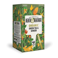 Heath & Heather Organic Green Tea & Ginger - 20 Bags
